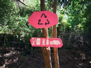 Gráfica de puntos limpios del Festival Woodstaco 2020