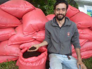 Compost obtenido en programa de retiro diferenciado de Materia orgánica, San Fabián